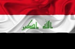Iracka falowanie flaga royalty ilustracja