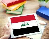 Irackiej flaga państowowa wolności swobody Rządowy pojęcie Obraz Stock