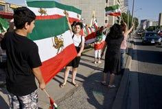 Irainians in Toronto, Canada, demostrating Stock Image