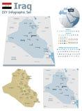 Irak översikter med markörer vektor illustrationer