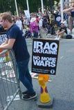 Irak i Ukraina wojny protest Zdjęcia Stock