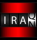 Irak Iran räknareTicker Arkivfoton