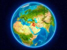 Irak på jord Arkivfoto