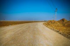 Irakijczyk pustynia przy zimą zdjęcia royalty free