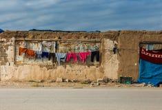 Irakijska wieś w zimie obraz royalty free
