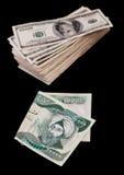 Irakische Dinare Stockfoto