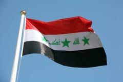 Irakische Markierungsfahne stockbilder