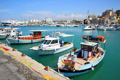 Iraklio-Hafen Stockbild