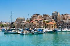 Iraklio-Hafen. Kreta, Griechenland Lizenzfreie Stockfotografie