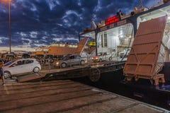Iraklion port Royaltyfria Foton