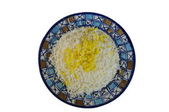 Iran, Abyaneh, rice with saffron Stock Photography