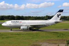 Iran Air Airbus A310 airplane Royalty Free Stock Photos
