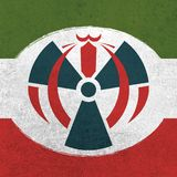 The iran and the atomic agreement royalty free illustration