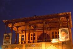 Iran: Ayatolla-Khomenei Posters at the Pol-e Khaju Bridge. An historic building Stock Images
