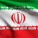 Iran bandery Zdjęcia Stock
