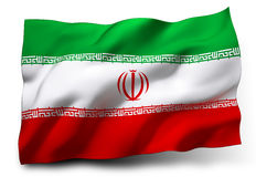 Iran bandery Obrazy Royalty Free
