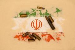 Iran bij oorlog Royalty-vrije Stock Fotografie