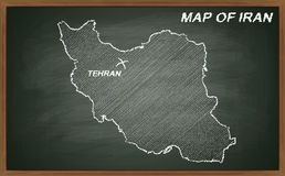 Iran on blackboard Royalty Free Stock Photography
