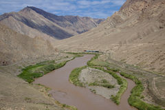 Iran border. Aras river on the border Iran and Azerbaijan. Mountain view Royalty Free Stock Image