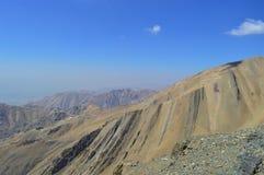 Iran.  Climbing mount tochal. stock image