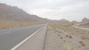 Iran desert road stock footage