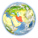 Iran on Earth isolated Royalty Free Stock Images