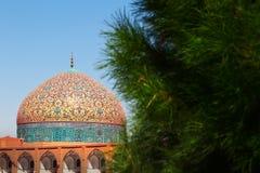 iran Een deel van Sheikh Lotfollah Mosque bij het vierkant van naqsh-E Jahan in Isphahan 17de eeuw royalty-vrije stock afbeelding