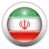 Iran Flag Aqua Button Stock Photo