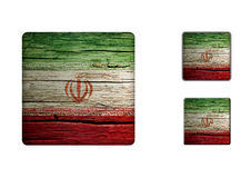Iran Flag Buttons Royalty Free Stock Images