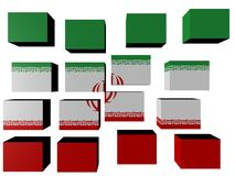Iran Flag on cubes Stock Photo