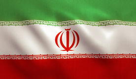 Iran Flag. With fabric texture royalty free stock image