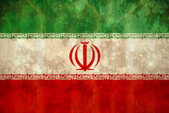 Iran flag in grunge effect Stock Photography