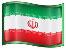 Iran Flag icon Royalty Free Stock Photo