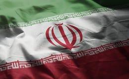 Iran Flag Rumpled Close Up.  stock photography