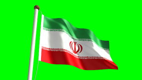Iran flag stock video