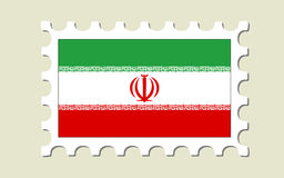 Iran Flag Stamp Royalty Free Stock Photography