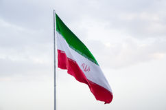 Iran flag. Waving Iran flag Stock Images