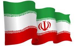 Iran Flag Waving Vector Illustration Stock Photography
