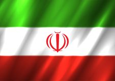 Iran flaga tło Fotografia Stock