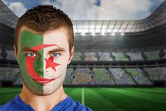Iran football fan in face paint Royalty Free Stock Photography