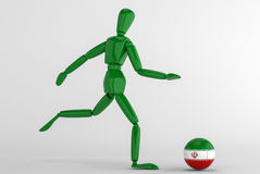 Iran fotboll Royaltyfria Foton
