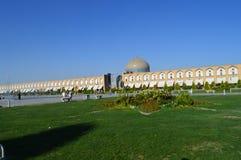 iran Imam Square wordt gevestigd in het centrum van Isphahan royalty-vrije stock afbeeldingen