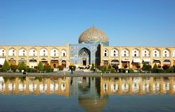 Sheikh Lotfollah Mosque in Isfahan, Iran royalty free stock photo