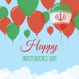 Iran islamisk republik av självständighetsdagenlägenheten Stock Illustrationer