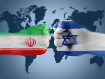 Iran x israel Stock Photography