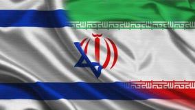 Iran Israel Flag Royaltyfri Fotografi