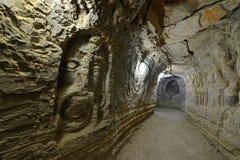 Iran Khorbas grotta Qeshm ö royaltyfri foto