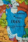 Iran land på pappers- översikt royaltyfri foto