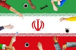 Iran landsflagga Liberty National Concept Royaltyfri Foto