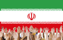 Iran landsflagga Liberty National Concept Arkivbilder